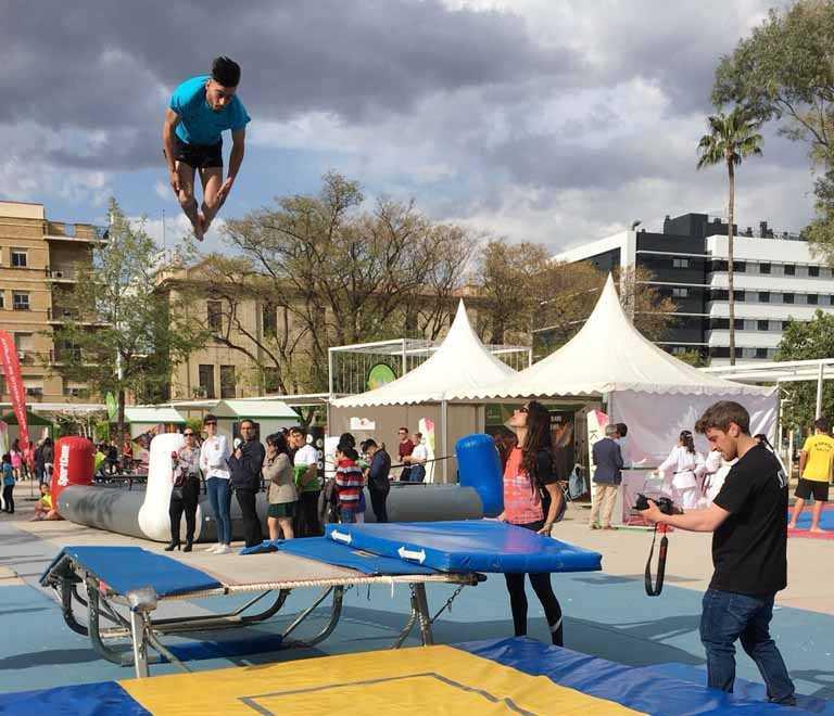exhibicion gimnasia trampolin iberdrola murcia